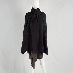 Rick Owens Black Shawl Coat